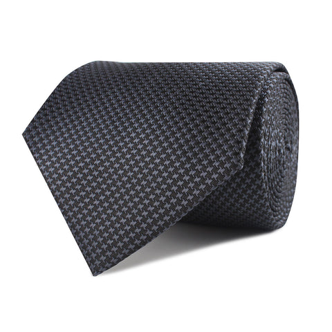 Black Houndstooth Pattern Necktie