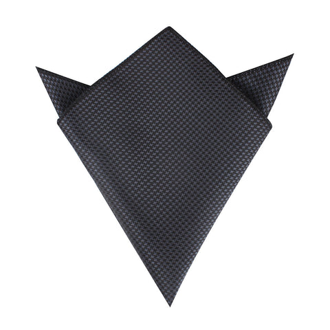 Black Houndstooth Pattern Pocket Square