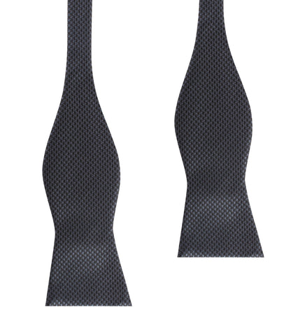 Black Houndstooth Pattern Self Tie Bow Tie