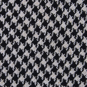 Black Houndstooth Spider Linen Kids Diamond Bow Tie
