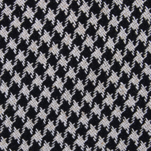 Black Houndstooth Spider Linen Bow Tie