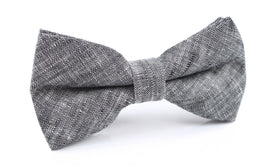 Black Linen Chambray Bow Tie