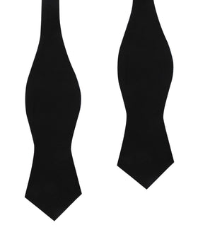 Black Linen Self Tie Diamond Bow Tie