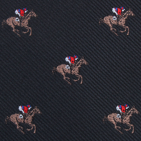 Black Melbourne Race Horse Bow Tie