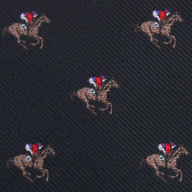 Black Melbourne Race Horse Kids Bow Tie