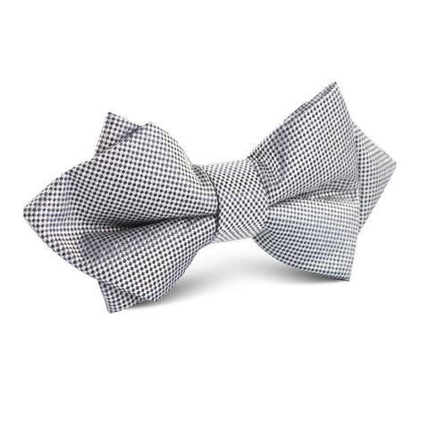 Black Micro Dot Diamond Bow Tie