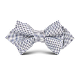 Black Micro Dot Kids Diamond Bow Tie