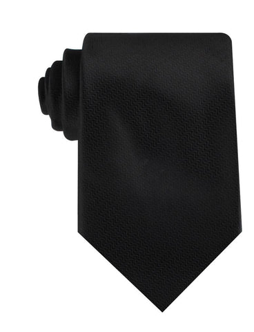 Black Midnight Rippling Sand Necktie
