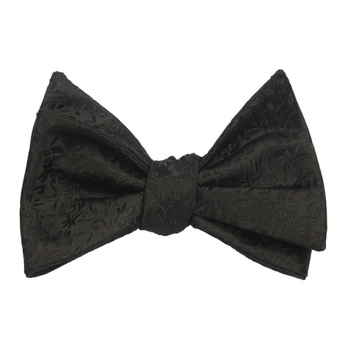 Black Pattern Bow Tie Untied X353 OTAA