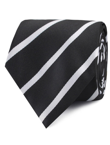 Black Pencil Stripe Tie