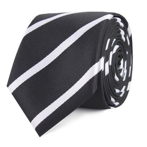Black Pencil Stripe Skinny Tie
