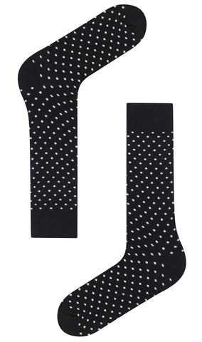 Black Polka Dots Cotton-Blend Socks