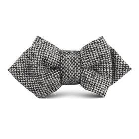 Black Porcupine English Wool Kids Diamond Bow Tie