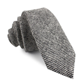 Black Porcupine English Wool Skinny Tie