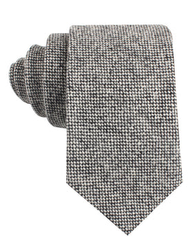 Black Porcupine English Wool Tie