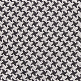 Black & Silver Houndstooth Pattern Fabric Bow Tie M110