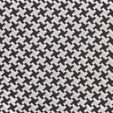 Black & Silver Houndstooth Pattern Fabric Skinny Tie M110