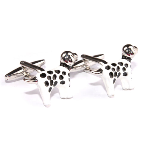 Black Spotted Dog Cufflinks