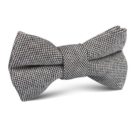 Black Tweed Linen Stitching Kids Bow Tie
