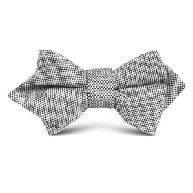 Black Tweed Linen Stitching Kids Diamond Bow Tie
