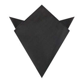 Black Twill Pocket Square