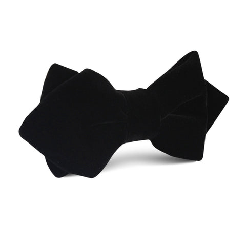 Black Velvet Diamond Bow Tie