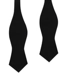 Black Velvet Diamond Self Bow Tie
