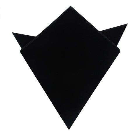 Black Velvet Pocket Square