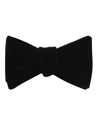 Black Velvet Self Bow Tie