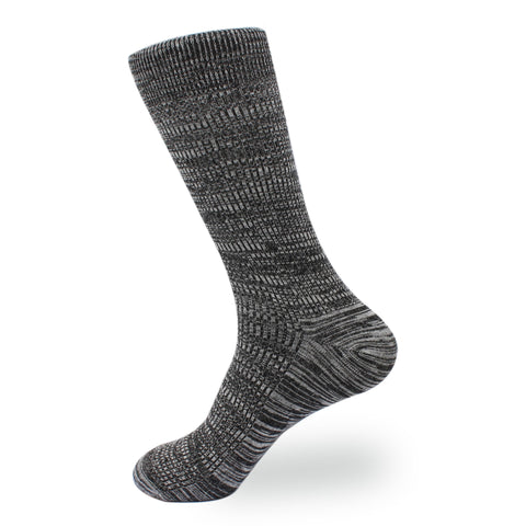 Black & White Cotton-Blend Socks