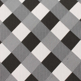 Black White Grey Checkered Bow Tie OTAA