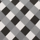 Black White Grey Checkered Fabric Bow Tie X033