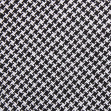 Black & White Houndstooth Cotton Fabric Skinny Tie C164