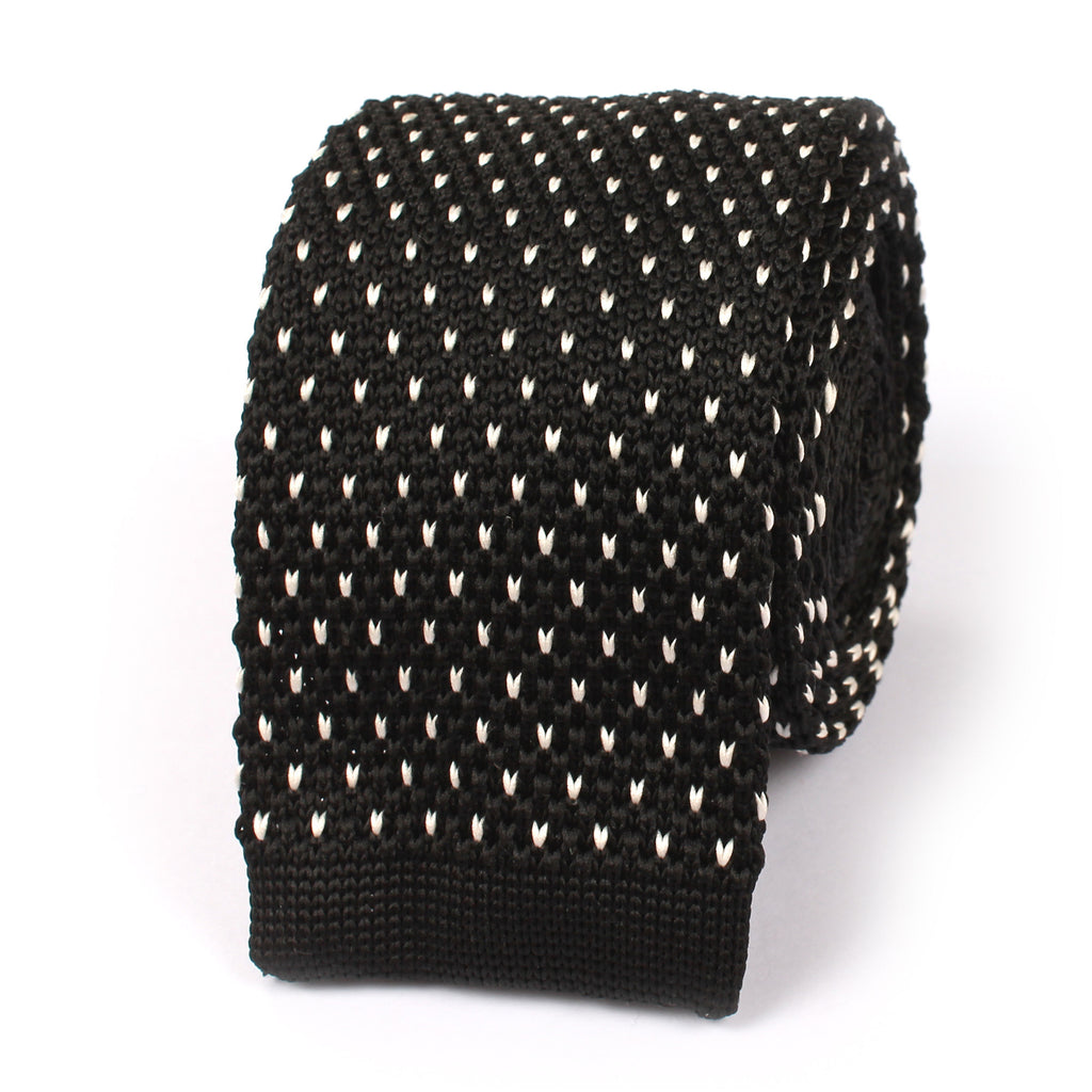 Black Amp White Pattern Knitted Tie Knit Ties Knits