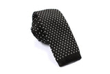 Black & White Pattern Knitted Tie OTAA