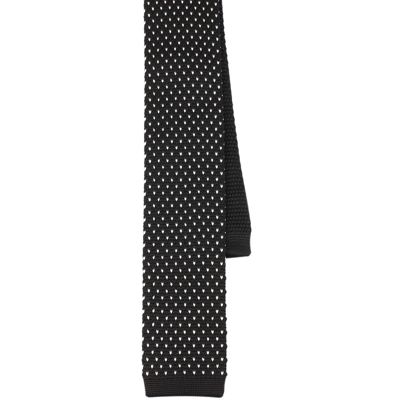 Black White Pattern Knitted Tie Knit Ties Knits Necktie Neckties
