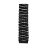 Black & White Pattern Knitted Tie Vertical View