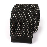 Black & White Pattern Knitted Tie