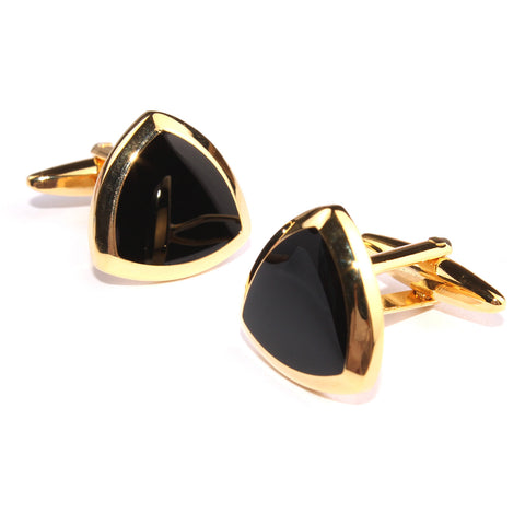 Black and Gold Avengers Shield Cufflinks