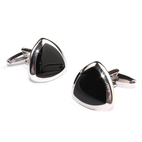 Black and Silver Avengers Shield Cufflinks
