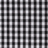 Black and White Gingham Cotton Fabric Bow Tie C024