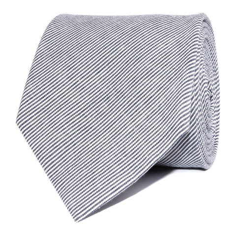 French Pinstripe Cotton Necktie