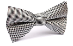 Black and White Small Dots Bow Tie