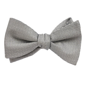 Black and White Small Dots Bow Tie Untied