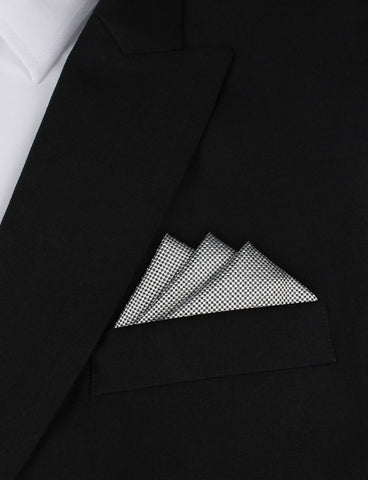Black and White Small Dots Pocket Square