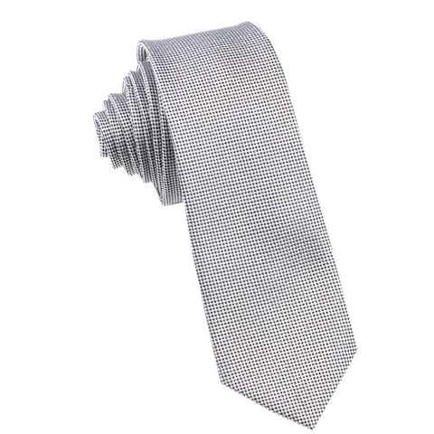 Black and White Small Dots Skinny Tie