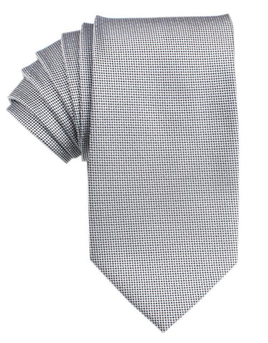 Black and White Small Dots Tie