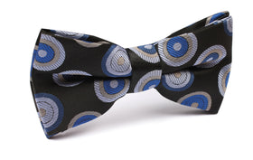 Black with Blue Circle - Bow Tie