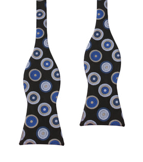Black with Blue Circle - Bow Tie (Untied)