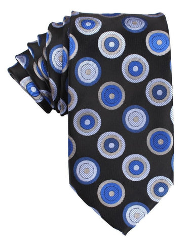 Black with Blue Circle Tie